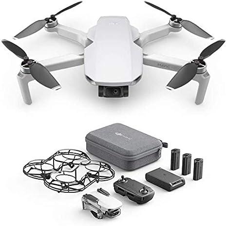 DJI Mavic Mini Combo CP.MA.00000124.01, Dron Ultraligero y Portátil,  Duración Batería 30 Minutos, Distancia Transmisión 2 Km, Gimbal 3 Ejes, 12  MP, Video HD 2.7K, 3 Baterías (Enchufe EU): Amazon.es: Electrónica