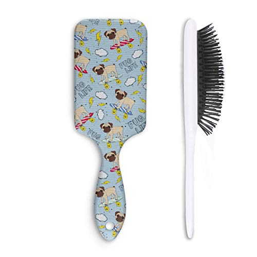 (Fashion Soft Hair Brush pug life skating - Pain Free - for Women Men Kids Good for Thick Thin Long Short Dry Damaged Curly any hair)