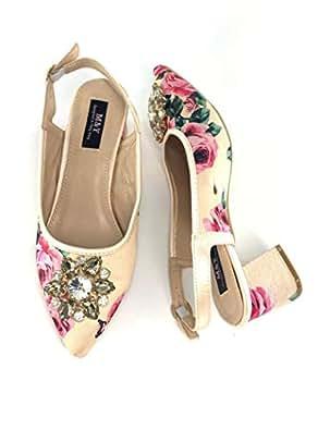 M&Y Yellow Heel Sandal For Women