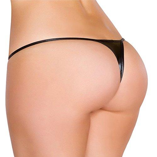 0e4a25d6da7 IWEMEK Women's Brazilian Teeny Micro Thong Low-Waist Sexy G-Strings V String  Bottom