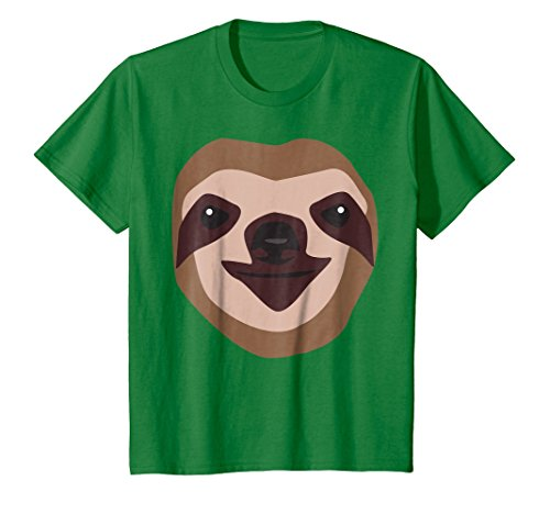 Kids Sloth Face Shirt, Funny Cute Animal Halloween Costume Gift 6 Kelly (Quirky Halloween Costume Ideas)