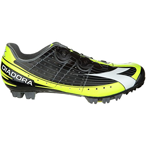Diadora X-Vortex Pro Shoes - Men's Black/Yellow Fluo/White, (Pro Carbon Mountain Bike Shoe)