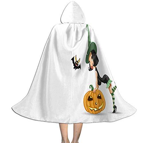 Khdkp Child's Costume Party Cosplay, Halloween Fancy Cape Costumes Robe Cloak Cape Autumn Black Dark Halloween Decoration - L