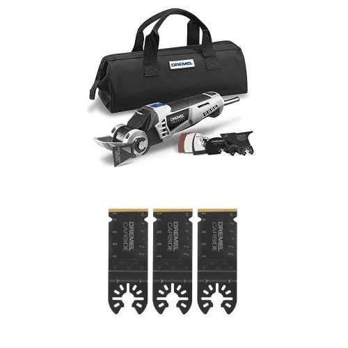 Dremel Hyper-Oscillating Ultimate Remodeling Tool Kit with Carbide Flush Cutting Blades