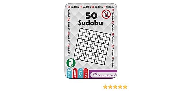 """The Purple Cow- The """"50"""" Series - Juego To Go - 50 Sudoku Puzzles Diferentes para niños 7+: Amazon.es: Juguetes y juegos"""