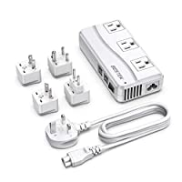 Bestek Universal Power Adapter with 6A 4-Port USB Charging