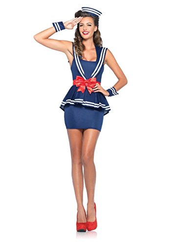 [Mememall Fashion Sexy Sailor Halloween Costume Adult Womens Navy Girl Fancy Dress Plus Sea] (Kids Deluxe Beetlejuice Costumes)