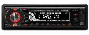 SCOTT SRX 210 Drift - Radio para coche (FM, Negro, MMC, SD, 290 x 235 x 95 mm, 2,26 kg, MP3)