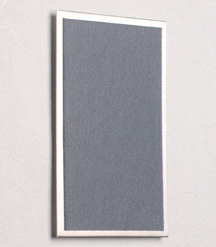 Cl/é magn/étique Tableau en Acier Inoxydable /25/x 15/x cm avec Feutre dans//Gris fonc/é/