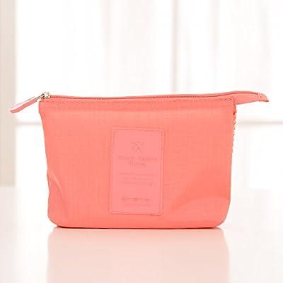 LULANPetit Sac cosmétique cosmétique mini portable trousse d'admission femme sacs cosmétiques sac de voyage rouge à lèvres ,16.5*12.5*4cm, trousse d'admission - rouge pastèque