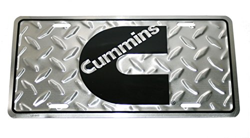 Cummins Diesel Engines Diamond Plated License Plate