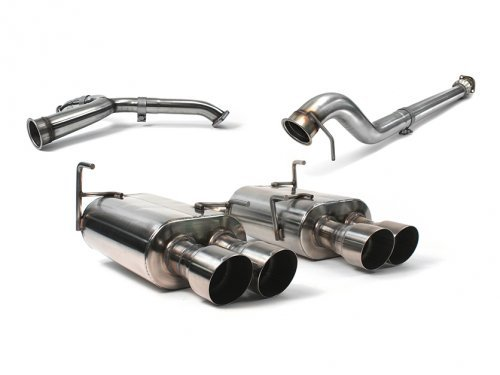 Perrin PSP-EXT-349BR Cat Back Exhaust Non Resonated for Subaru WRX STi 2015+ Sti Cat Back Exhaust