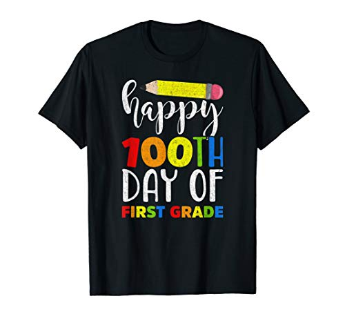 Happy 100th Day of First Grade Shirt for Teacher or Child ()