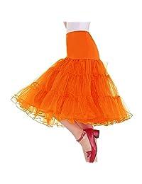 Lealac Women's 50s Vintage Petticoat Skirts Crinoline Tutu Skirt Tulle Underskirts