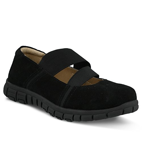 Spring Step Donna In Pelle Scamosciata Zuberi Mary Jane Nero