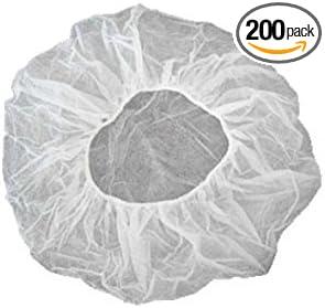 Disposable Hair Net White 100 per Bag Spun-Bonded Polypropylene