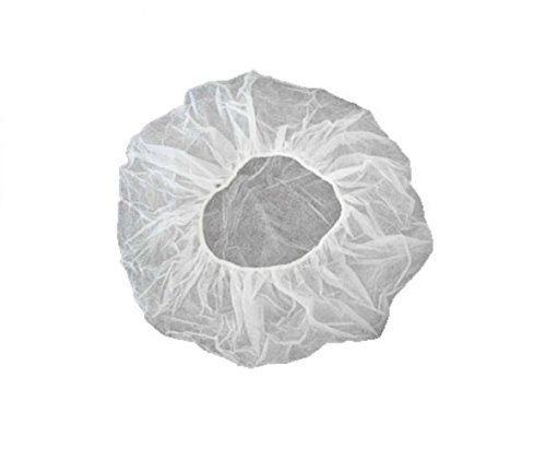 Disposable Hair Net, Spun-Bonded Polypropylene, White, 100 per Bag (Case of 1000) by VersaPro (Image #2)