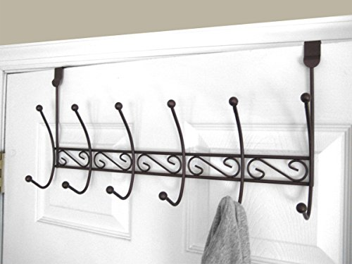 Home Basics DH10658 6 Hook Over The Door Rack