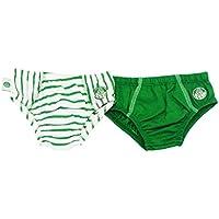 Rêve D'or Sport - Kit Duo Cuecas Palmeiras Menino, G, Verde/Listrado