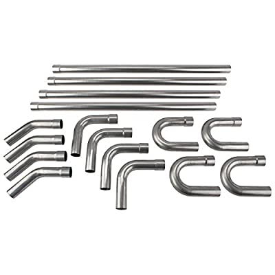 Universal Stainless Steel Dual Exhaust Mandrel Bend Kit, 2-1/2 Inch: Automotive