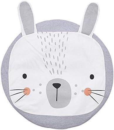 blanc gris 1/m Tapis D/éveil rond Rabbit Lapin B/éb/é Motif Tapis de couloir chambre d/écoration coton
