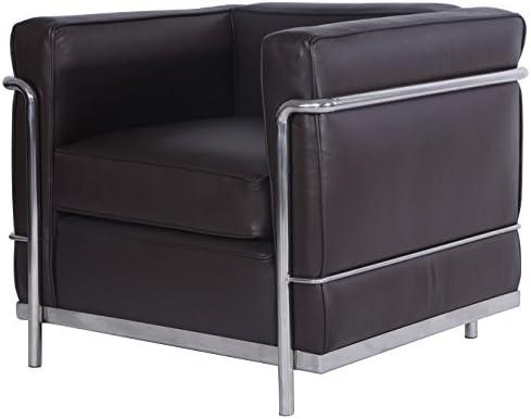 Amazon Com Mlf Le Corbusier Style Lc2 Armchair 1 Seater Dark
