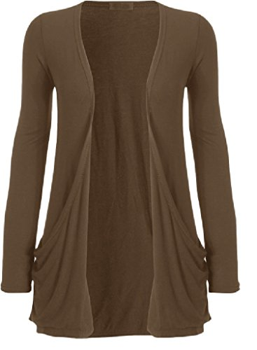 Manche Longue Femme Mokka Gilet Clothing Outofgas Ouvert Pour Poche OqC6wF