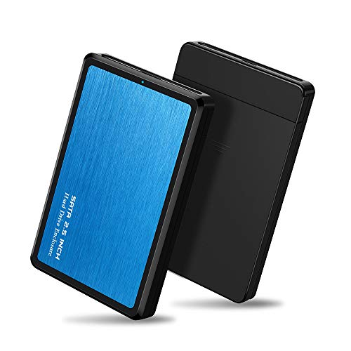 (EYOOLD HDD Case 2.5 SATA to USB 3.0 Hard Drive Enclosure for SSD Disk HDD Box USB3.0 Case Support UASP for Window/Max/Linu,Aluminum Alloy & Durable ABS Material)