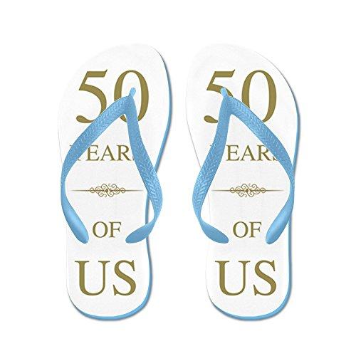 Cafepress 50e Huwelijksverjaardag - Flip Flops, Grappige String Sandalen, Strand Sandalen Caribbean Blue