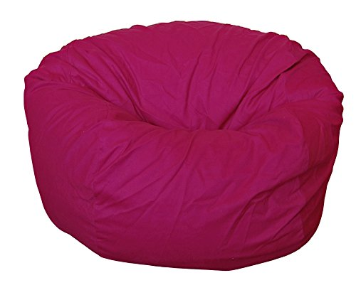 Ahh! Products Cotton Washable Bean Bag, Magenta, Large (Magenta Bean Bag)