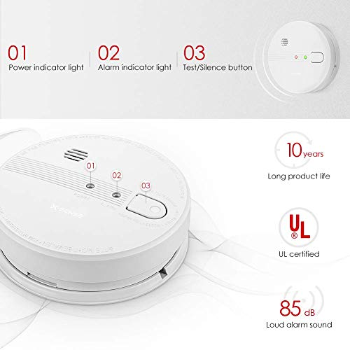 X-Sense SD21 Smoke Detector, UL Listed Interconnect Fire Alarm with 10-Year  Battery Backup and Photoelectric Sensor