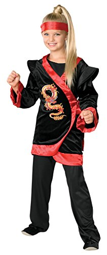 Child's Red Dragon Ninja Costume - Medium