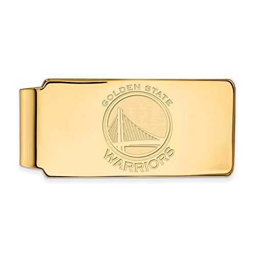 NBA Golden State Warriors Money Clip in 14K Yellow Gold by LogoArt