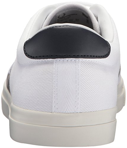 Fred Sneaker Twill 1 Perry White Men's Plastisol Underspin rXrp7R
