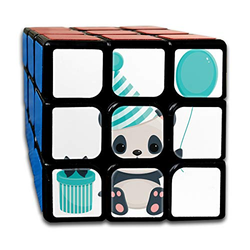 rthday Cute Panda Special Speed Cube 3x3 Smooth Magic Cube Puzzle Game Black ()