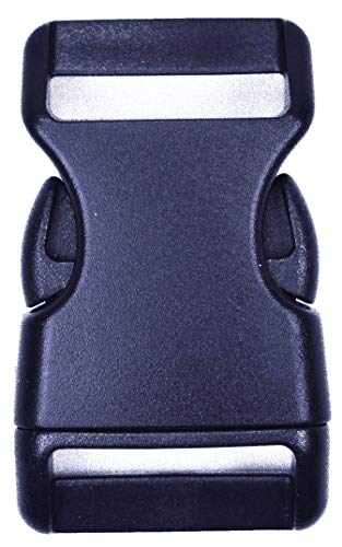 Bored Paracord 1'' Contoured Side Release Black Plastic Buckle – 25 Pack by Bored Paracord (Image #3)
