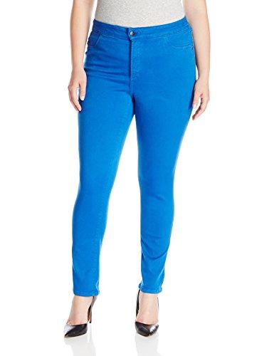 NYDJ Women's Plus-Size Janice Legging Fit Skinny Jeans in Princess Blue, Princess Blue, 24W