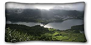 """Custom Cotton & Polyester Soft Nature Pillow Covers Bedding Accessories Size 20""""X36"""" suitable for Twin-bed"""