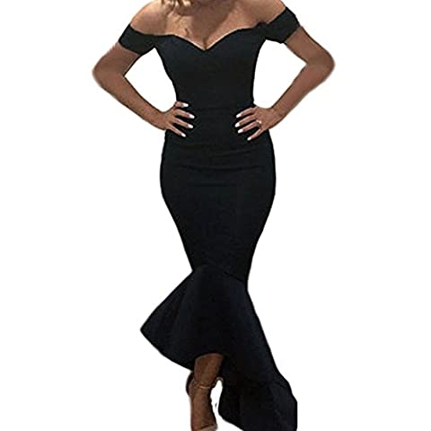 Scecent Women's Mermaid Prom Dress Off-shoulder Formal Dress Evening Gowns - Couture Formal Dresses