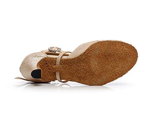 UK7 Chaussures 5 Talons Latin Danse Tango Samba Salsa Pour Sandales EU42 Jazz Femmes JSHOE Chaussures Moderne Thé Hauts heeled6cm Our43 De Gold n6wqHgC7U