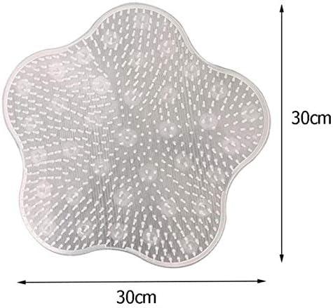 Gebuter Silicone Bathroom Massage Mat Foot Back Massage Cushion Non-Slip Foot Wash Pad