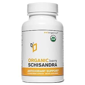 USDA Certified Organic Schizandra (1000mg Per Serving) (Vegetarian Capsules)