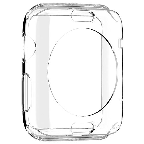 Spigen Liquid Crystal Apple Watch Case with Slim Protection and Premium Clarity for Apple Watch 42mm 2015 - Crystal Clear - 42 Liquid