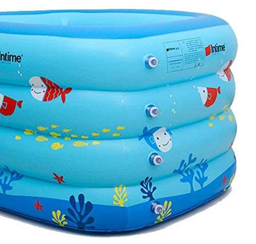 CTO Ining Bathtub Blue Baby Inflatable Swimming Pool Infant Young Child Children Thickening Newborn Bath Tub Blue Cartoon Small Fish,A,Bathtub by CTO (Image #1)
