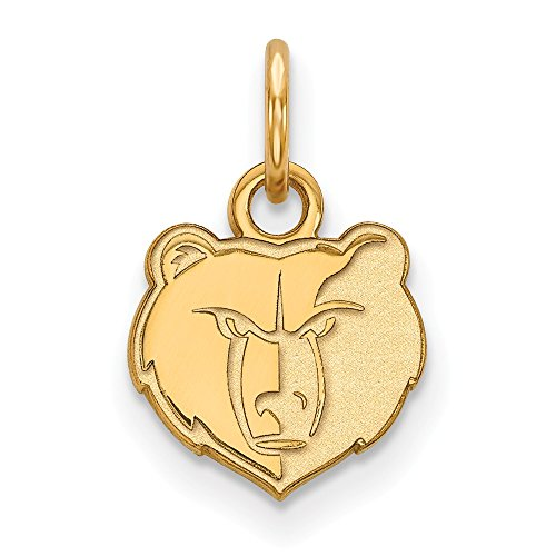 Roy Rose Jewelry 14K Yellow Gold NBA LogoArt Memphis Grizzlies X-small Pendant / Charm by Roy Rose Jewelry