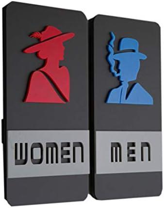 NUOBESTY 浴室のトイレの男性と女性のトイレのサイントイレのシンボル