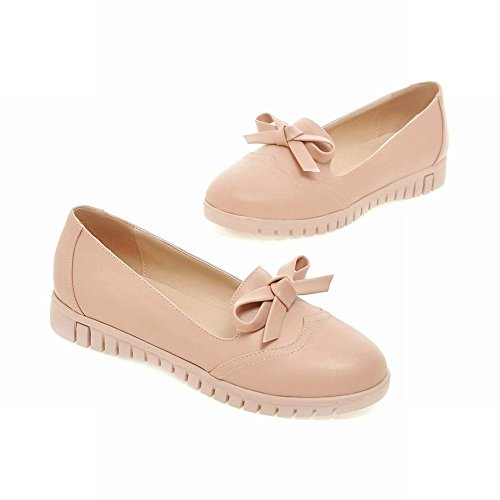 Mee Shoes Damen bequem flach runder toe mit Schleife Loafers Pumps Pink