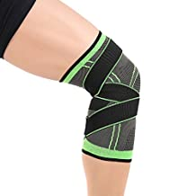 CLKJDZ 3D Weaving Pressurization Knee Brace Basketball Tennis Hiking Cycling Knee Support Professional Protective Sports Knee Pad