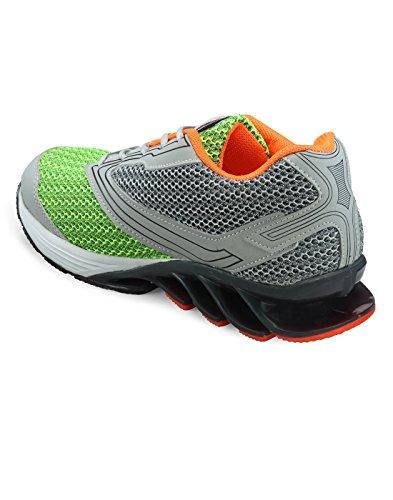 Yepme - Zapatillas de atletismo de Material Sintético para hombre multicolor Verde y gris