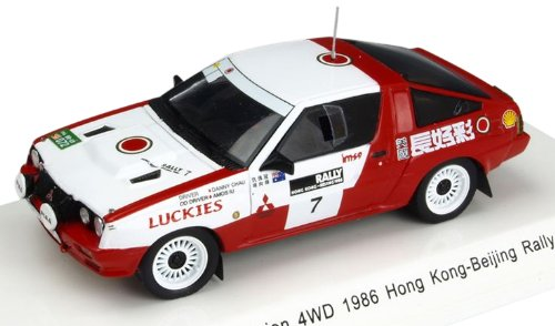 1/43 三菱スタリオン4WD 1986年香港-北京ラリー No.7 D.S.Chau/A.lu R70135